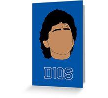 Diego Armando Maradona Stylized Greeting Card