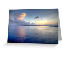 Grand Cayman HDR Sunrise Greeting Card