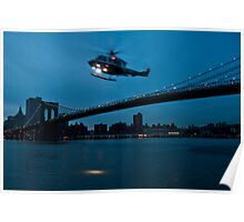 Brooklyn with Helicopter Poster