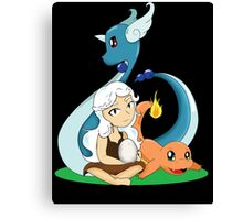 Mother of Dragon Pokemon Canvas Print