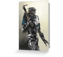 A busy Turian Greeting Card