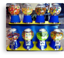"""""""What Ever Happen To The Days Of A Nickle Gum Ball Machine?"""" Canvas Print"""
