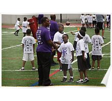 Ray Rice with kids Poster