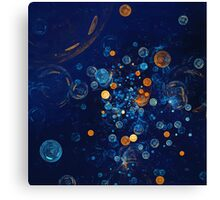 Fractal Soapbubbles - Abstract In Blue And Orange Canvas Print