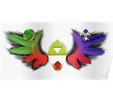 Triforce Wings Poster