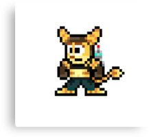Ratchet & Clank Pixel Canvas Print
