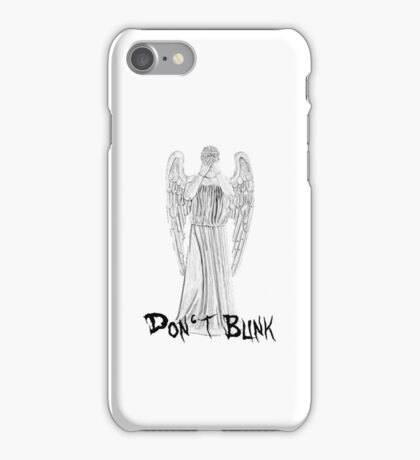 Don't Blink - DW Weeping Angels iPhone Case/Skin