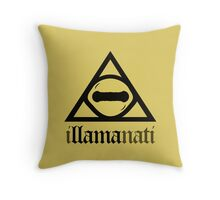 iLLAMAnati (Goat Eye Illuminati) Throw Pillow