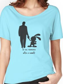 It all started with a rabbit. Women's Relaxed Fit T-Shirt