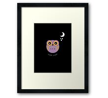 Night Night Purple Owl Framed Print
