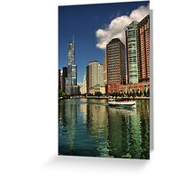 Along the Chicago River Greeting Card