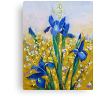 Iris and Forsythia Canvas Print