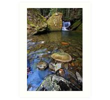 """Mini falls & rock Pool"" Art Print"
