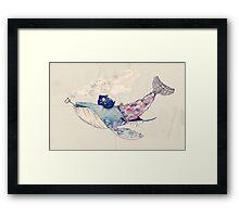 Pirate Whale Framed Print