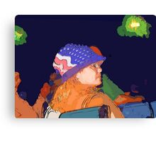 Watching the fireworks Canvas Print