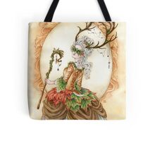 Forest Finery - Rococo Deer or Faun girl  Tote Bag