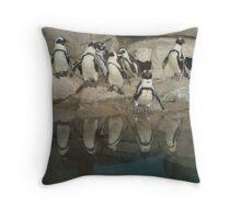 Penguins Reflection Throw Pillow