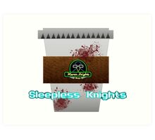 Sleepless Knights Logo Art Print