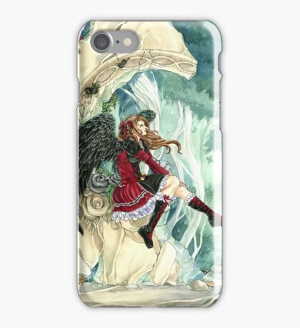 Daydreaming gothic dark angel fairy tale by Meredith Dillman iPhone Case/Skin