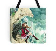 Daydreaming gothic dark angel fairy tale by Meredith Dillman Tote Bag