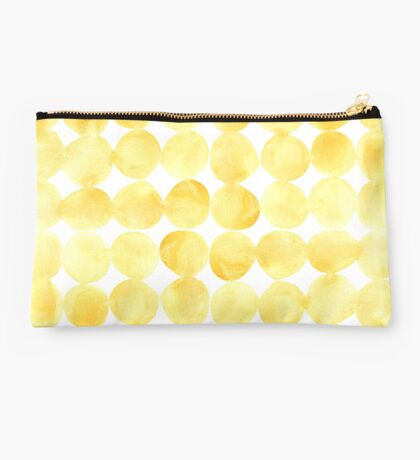 Imperfect Geometry Yellow Circles Studio Pouch