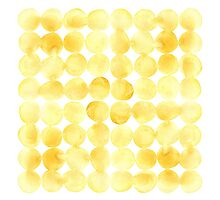 Imperfect Geometry Yellow Circles Photographic Print