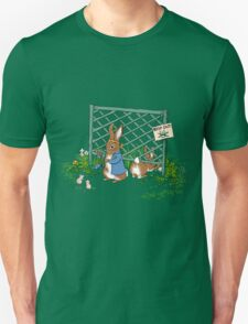 Peter's Backyard Bargains, rabbit, gardening T-Shirt