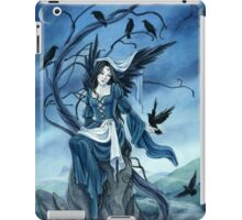 Throne of Ravens, Dark Angel, fantasy art by Meredith Dillman iPad Case/Skin