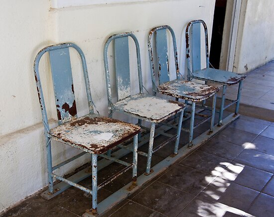 Rusted Blue Chairs by phil decocco