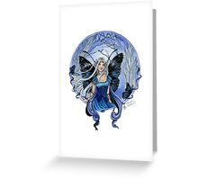 Blue Diadem Gothic Fairy Greeting Card
