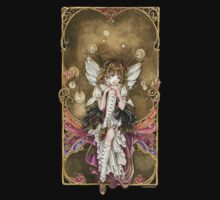 Gears and Glass Steampunk Fairy Kids Tee