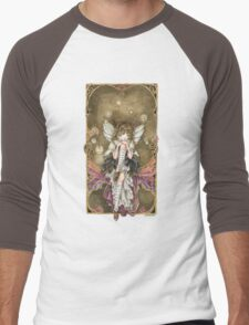 Gears and Glass Steampunk Fairy Men's Baseball ¾ T-Shirt