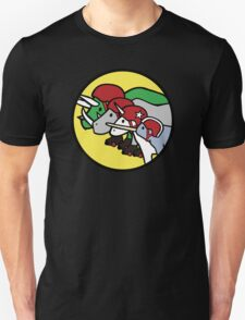 Horned Warrior Friends ROLLER DERBY (Unicorn, Narwhal, Rhino, Triceratops) Unisex T-Shirt