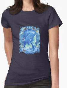 Wishing on a Star baby Dragon fantasy t shirt Womens Fitted T-Shirt