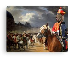 Barbet Art - Napoleon at the Parade in the Court of the Tuileries Palace Canvas Print