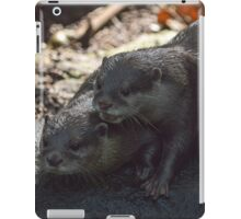 Otters in the woods iPad Case/Skin