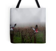 galahs in the mist Tote Bag