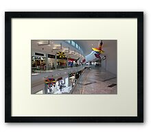 The Mall by the Beach Framed Print