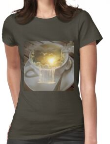 Clouds in my Coffee Womens Fitted T-Shirt