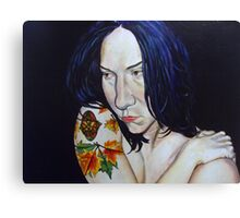Blue haired muse Canvas Print