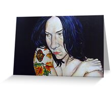 Blue haired muse Greeting Card