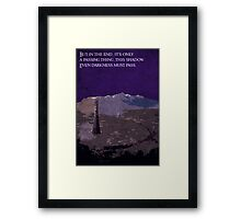 The Two Towers inspired design (2). Framed Print