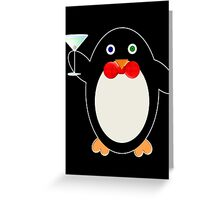Happy Hour Penguin Greeting Card