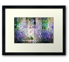Composition With Ghosted Branches and Birds Framed Print