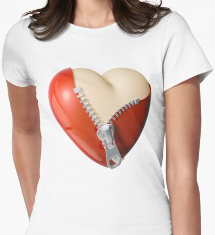 Revealing love Womens Fitted T-Shirt