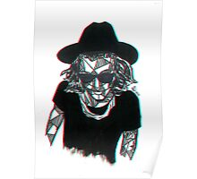 3D Geometric Harry Styles Poster