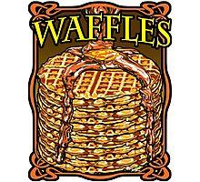 WAFFLES!! Photographic Print