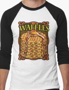 WAFFLES!! Men's Baseball ¾ T-Shirt