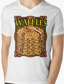 WAFFLES!! Mens V-Neck T-Shirt