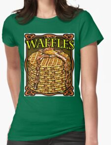 WAFFLES!! Womens Fitted T-Shirt